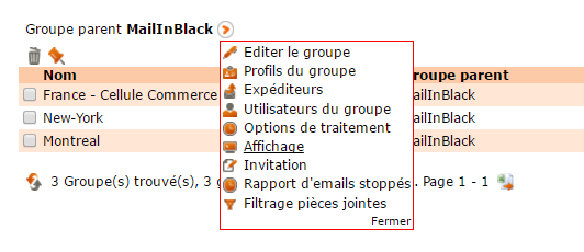 Fleche orange groupes Mailinblack